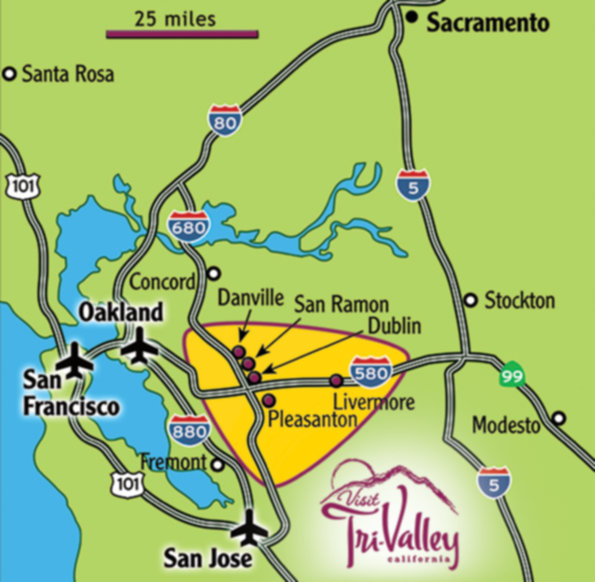 Northern California's Tri-Valley and surrounding areas.