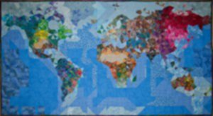 Pieces of the Puzzle from the People of the Planet (quilting) by diane Lovitt