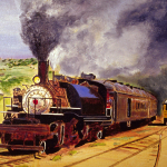"Painting, Acryllic: ""Engine No. 2"" by John G. Bluck"