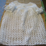 "Crochet Dress: ""Baptism of Demetria"" by Mona Dawson"