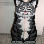 "Needlepoint Doorstop: ""Hello, Kitty!"" by Annette Langer"