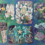 "Quilt (original design): ""Tidepools"" by Diane Loveitt"