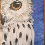 "Painting, Acrylic on Canvas: ""Snowy Owl"" by Karen Nuelle"